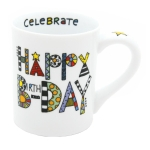 Cuppa Doodle Happy Birthday Adult Coffee Mug 16 Oz by Our Name Is Mud from Enesco