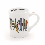 Cuppa Doodle Terrific Teacher Coffee Mug Oz by Our Name Is Mud from Enesco
