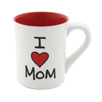 I Heart Mom Coffee Mug 16 Oz by Our Name Is Mud from Enesco