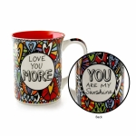 Love You More Cuppa Doodle Coffee Mug 16 Oz by Our Name Is Mud from Enesco