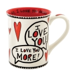 Love You Most Coffee Mug (Cup) 16 Oz by Our Name Is Mud from Enesco