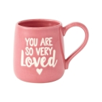 You Are Loved Etched Coffee Mug 16 Oz by Our Name Is Mud from Enesco