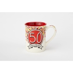 50 Something Birthday Coffee Mug 16 Oz by Our Name Is Mud from Enesco
