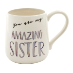 Amazing Sister Coffee Mug (Cup) 16 Oz by Our Name Is Mud from Enesco