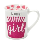 Birthday Girl Glitter Coffee Mug 16 Oz by Our Name Is Mud from Enesco