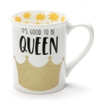 Good to be Queen Glitter Coffee Mug 16 Oz by Our Name Is Mud from Enesco