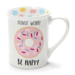 Donut Worry Be Happy Coffee Mug 16 Oz by Our Name Is Mud from Enesco