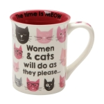 Pink Kitties Women & Cats Coffee Mug 16 Oz by Our Name Is Mud from Enesco