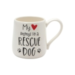 My Heart Belongs to a Rescue Dog Coffee Mug 16 Oz by Our Name Is Mud from Enesco