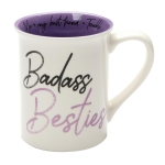 Badass Besties Friendship Coffee Mug (Cup) 16 Oz by Our Name Is Mud from Enesco