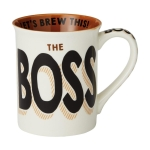 Boss Let's Brew This Coffee Mug 16 Oz by Our Name Is Mud from Enesco