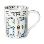 The Big 60 Cuppa Doodle Birthday Coffee Mug (Cup) 16 Oz by Our Name Is Mud from Enesco