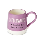 Catfeinated Cat Lover Engraved Coffee Mug 16 Oz by Our Name Is Mud from Enesco