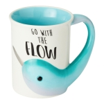 Narwhal Go With the Flow Sculpted Coffee Mug 16 Oz by Our Name Is Mud from Enesco