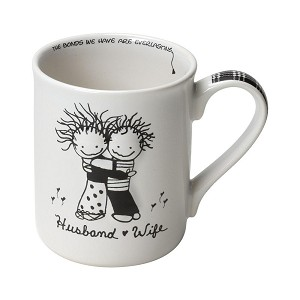 Husband & Wife Love Coffee Mug (Cup) 16 Oz by Children of the Inner Light from Enesco