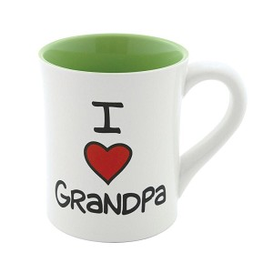 I Heart Grandpa Coffee Mug 16 Oz by Our Name Is Mud from Enesco