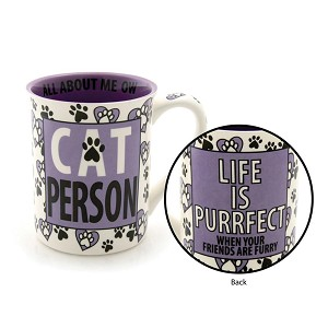 Cat Person Coffee Mug 16 Oz by Our Name Is Mud from Enesco