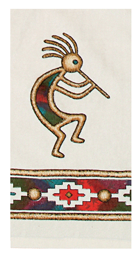 Southwest Themed KokoPelli Canyon Dance Cotton Dish Terry ...