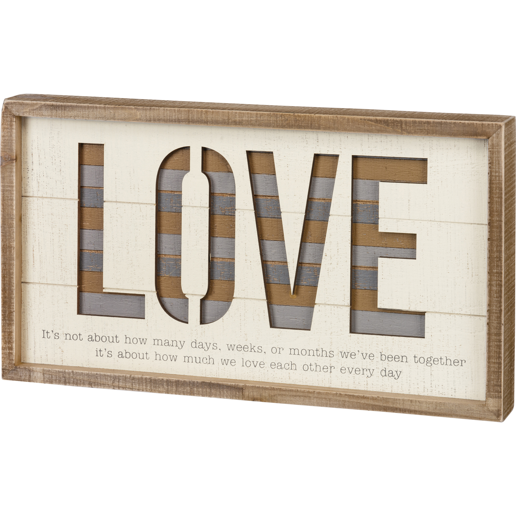 Large Love Each Other Every Day Decorative Inset Wooden Box Sign Wall Décor 18x10 From Primitives By Kathy