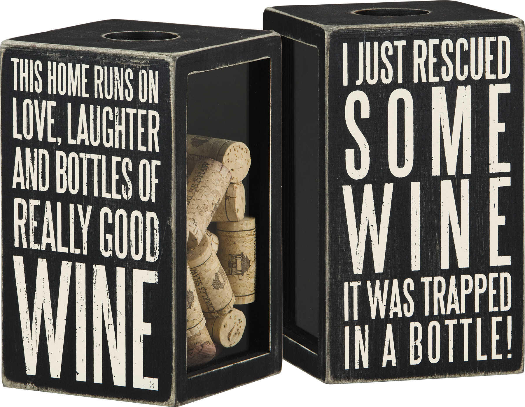 I Just Rescued Some Wine Decorative Wooden Box Sign Wine