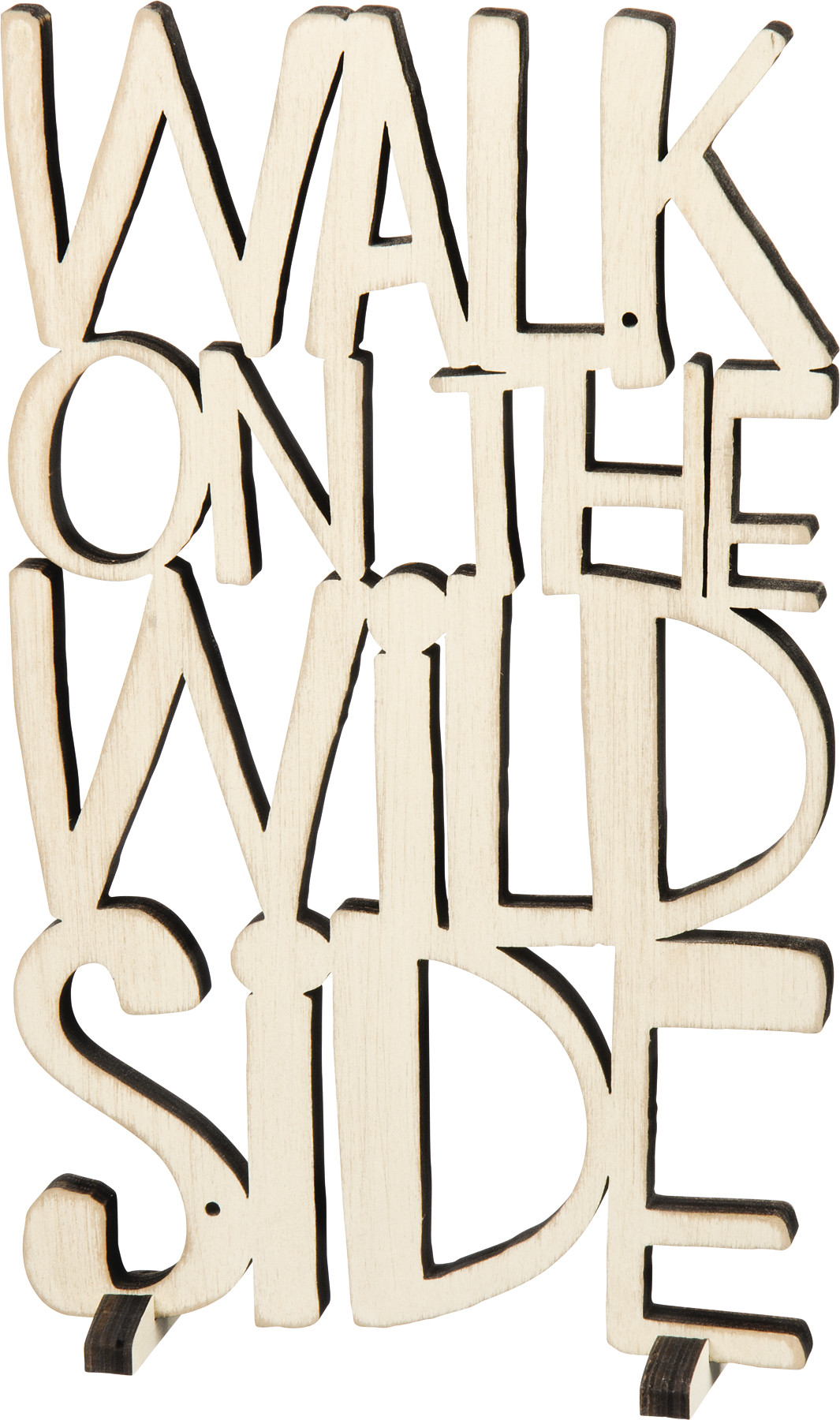 Walk on The Wild Side Word Art Sign Fluff from Primitives by Kathy