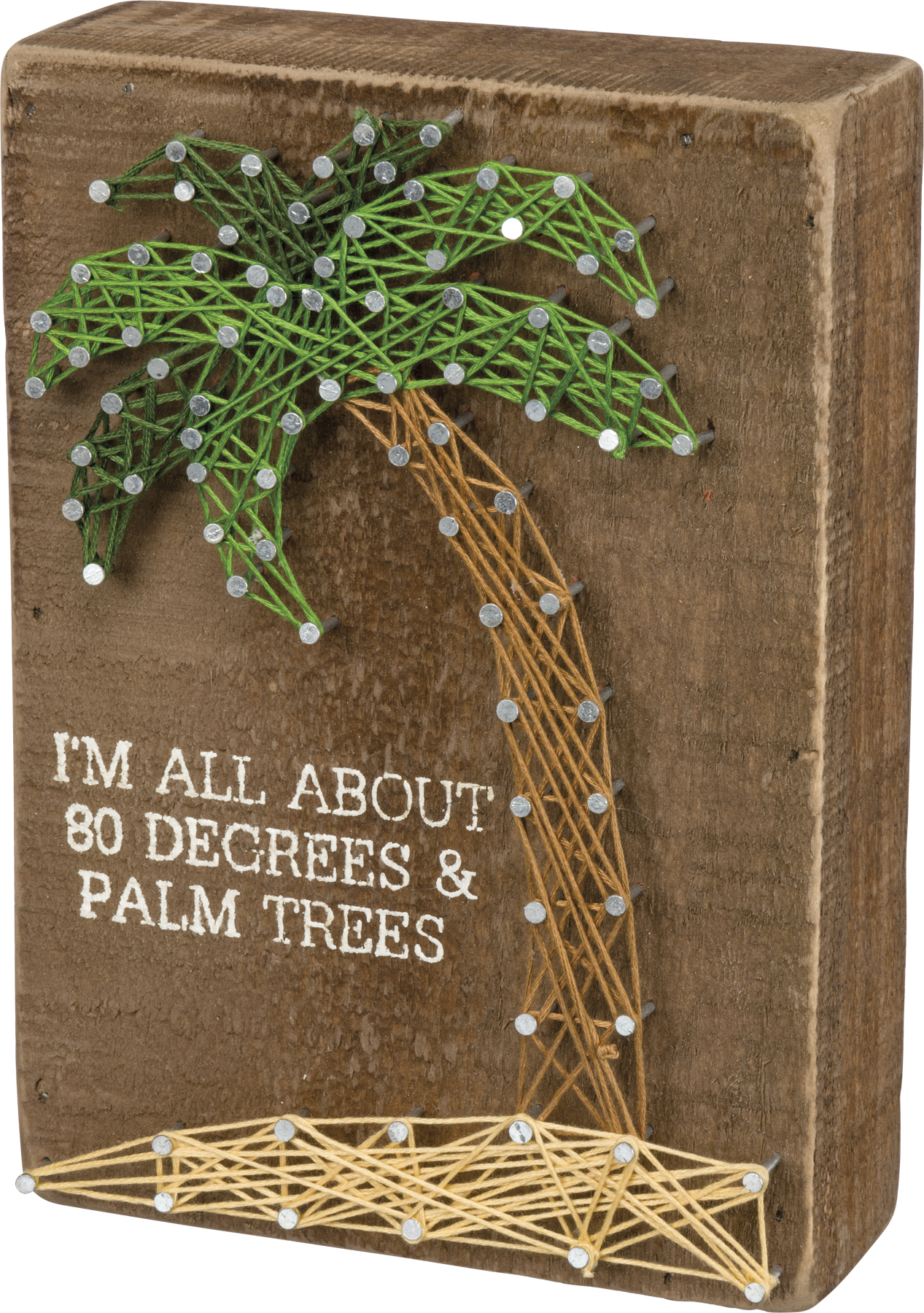 I M All About 80 Degrees Amp Palm Trees String Art Wooden