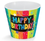 Colorful Happy Birthday #4 Melamine Pot Cover from Burton & Burton