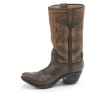 Western Swing Brown Cowboy Boot Shaped Resin Vase 9.25 Inch from Burton & Burton