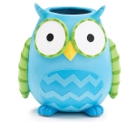 Whoo's Cutest Blue & Green Owl Shaped Vase 6 Inch from Burton & Burton