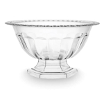 Medium Clear Plastic Abby Compote Vase Bowl from Burton & Burton