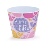 Whale Themed It's A Girl #4 Decorative Melamine Pot Cover from Burton & Burton