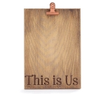 Wood Burn This Is Us Decorative Wooden Photo Holder from Burton & Burton