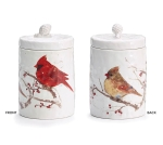 Cardinals On Berry Branch Double Sided Ceramic Cookie Jar (Male & Female) from Burton & Burton