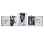 Set of 3 Wooden Love Themed Signs With Photo Holders from Burton & Burton