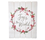 Red Berry Wreath Design Joy To The World Decorative Hanging Wall Décor Sign 23.75 Inch from Burton & Burton