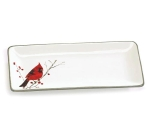 Red Cardinal On Branch Decorative Ceramic Serving Tray from Burton & Burton