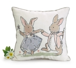 Bunny Couple Dancing Decorative Throw Pillow 15x15 from Burton & Burton