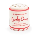 Red & White Ceramic Candy Dish Candy Cane Holder (Kringle Candy Cane Co.) from Burton & Burton