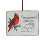 Cardinals Appear When Angels Are Near Wooden Christmas Ornament 4x5 from Burton & Burton