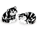 Chester The Cat Hand Painted Ceramic Salt & Pepper Shaker Set from Burton & Burton
