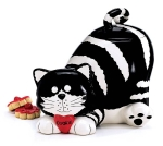 Chester The Cat Hand Painted Ceramic Cookie Jar from Burton & Burton