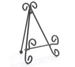 Scroll Design Black Metal Plate Stand from Burton & Burton