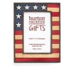 Patriotic American Flag Design Photo Picture Frame (Holds 4x6 Photo) from Burton & Burton
