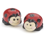Set of 2 Ladybug Themed Ceramic Salt & Pepper Shakers from Burton & Burton