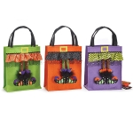 Set of 3 Witch Shoe Design Large Halloween Tote Bags from Burton & Burton