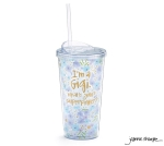 Flower Pattern I'm A Gigi What's Your Superpower Acrylic Travel Cup 20 Oz from Burton & Burton