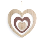 Hand Painted Spinning Layered Heart Wooden Wall Hanging Décor from Burton & Burton