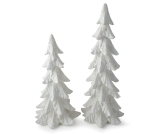 Set of 2 Large White Pine Tree Figurines from Burton & Burton