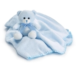 Plush Blue Teddy Bear & Fleece Blanket Set from Burton & Burton