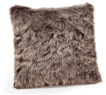 Two Sided Gray Faux Fur Decorative Throw Pillow 15x15 from Burton & Burton